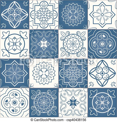 Seamless patchwork pattern - csp40438156