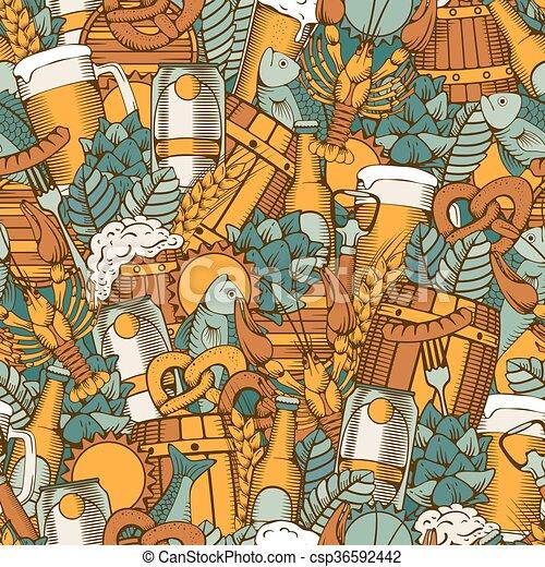 Cerveza sin costura - csp36592442