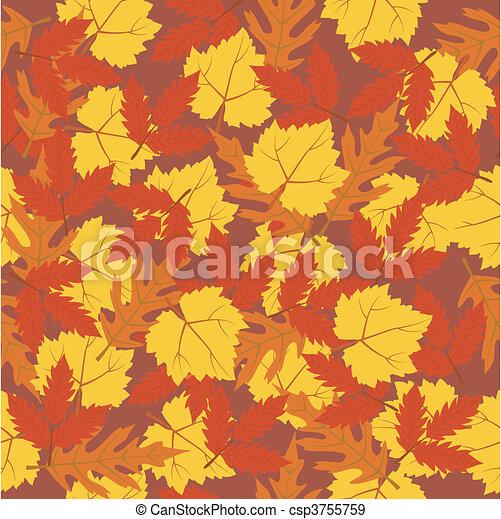 seamless pattern autumn leaves - csp3755759