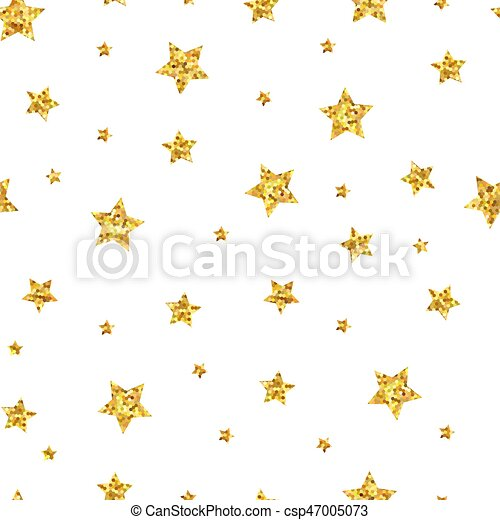Seamless pattern background with gold stars. - csp47005073