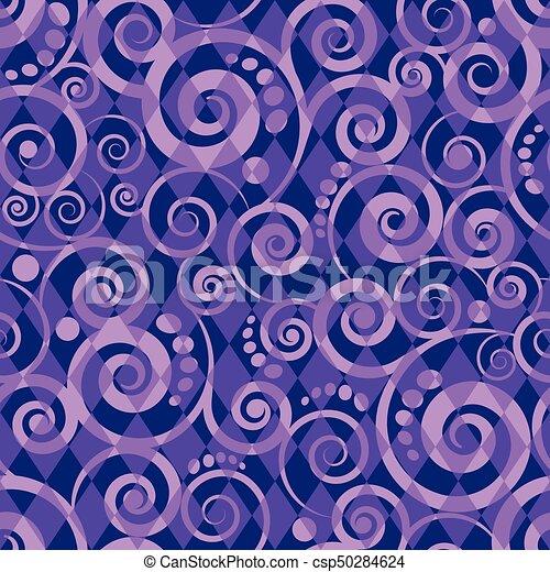 Seamless pattern card, vector illustration - csp50284624