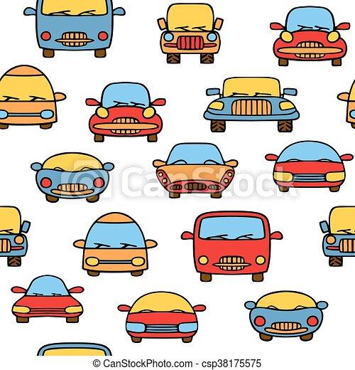 Seamless pattern cars - csp38175575