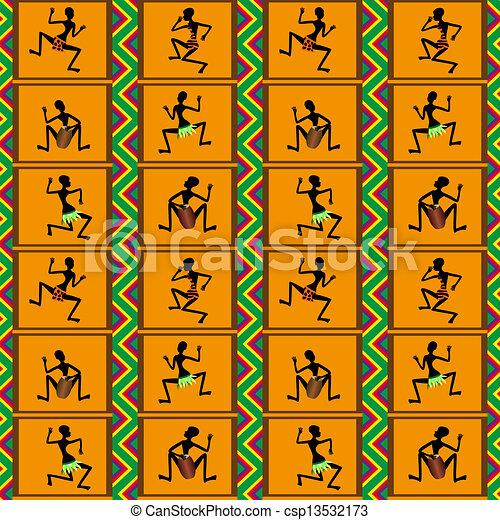 Seamless pattern - dance of people - csp13532173