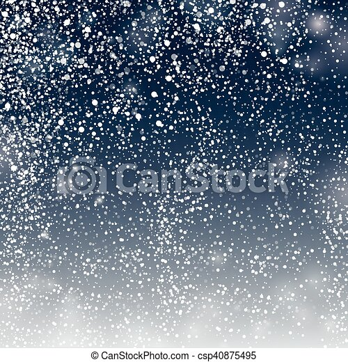 Seamless pattern from snowflakes on deep blue background - csp40875495