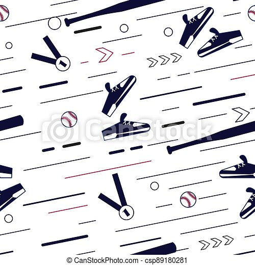 Seamless pattern from sport equipment - csp89180281