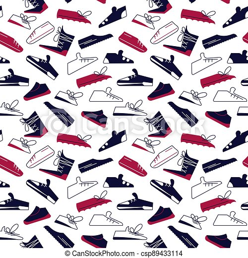 Seamless pattern from sport shoes - csp89433114