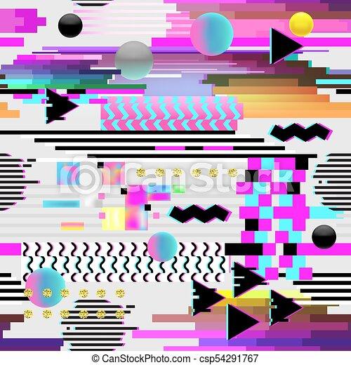 Cyberpunk Abstract Art