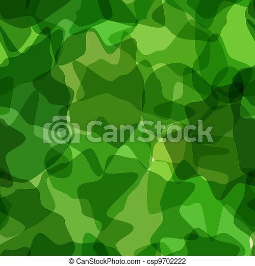 Seamless pattern green camouflage - csp9702222