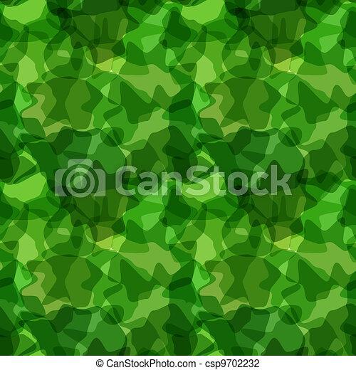 Seamless pattern green camouflage - csp9702232
