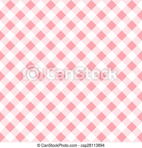 Seamless Pattern Of A Pink White Plaid Tablecloth   Csp28113894