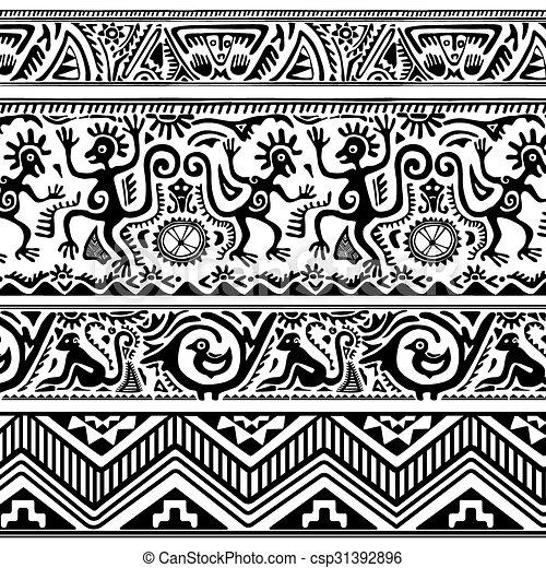 Seamless Pattern Of African Primitive Art Mesmerizing Pattern Art