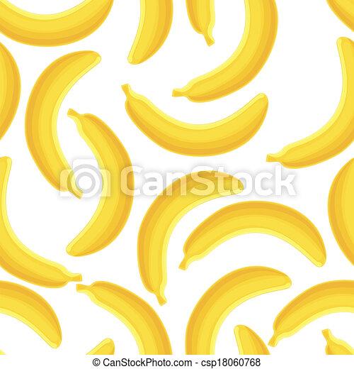 Seamless pattern of bananas, vector illustration. - csp18060768