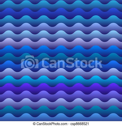 seamless pattern of  blue waves - csp8668521