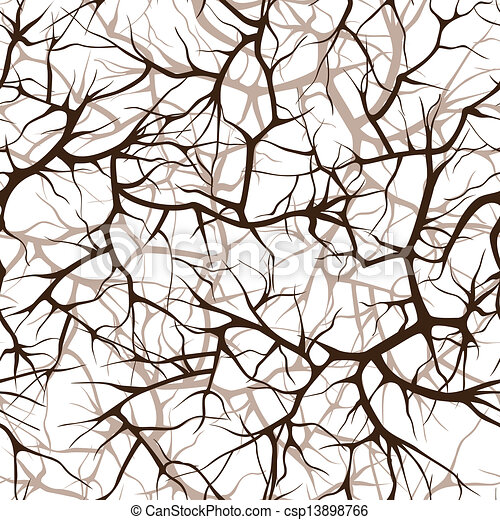seamless pattern of branches - csp13898766