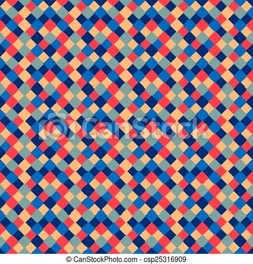 Seamless pattern of colored square - csp25316909