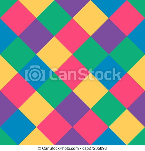 seamless pattern of colored squares - csp27205893