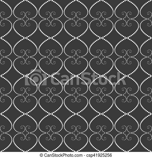 Seamless pattern of dots on a gray background. - csp41925256