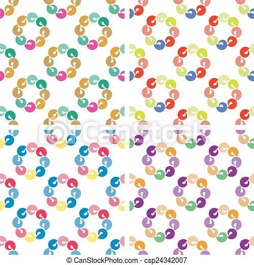 Seamless pattern of geometric shapes - csp24342007