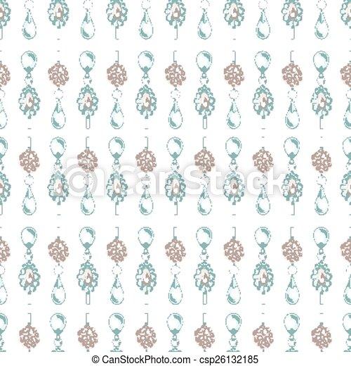 Seamless pattern of jewels - csp26132185