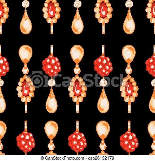 Seamless pattern of jewels - csp26132179