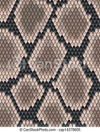 Seamless pattern of snake skin - csp14378605