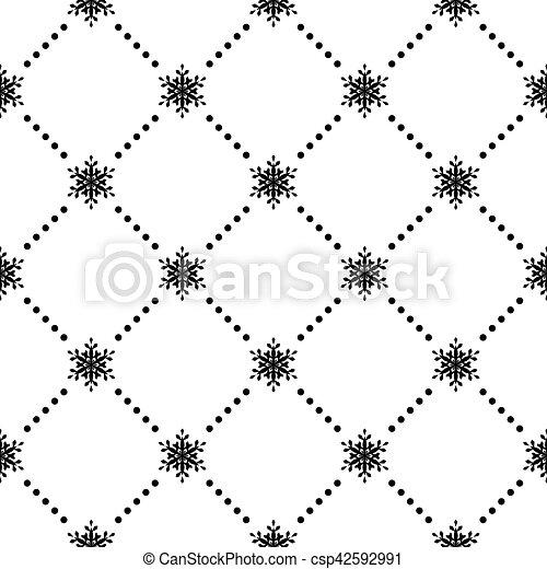 Seamless pattern of snowflakes. EPS 10 - csp42592991