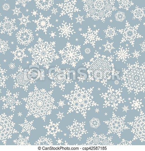 Seamless pattern of snowflakes. EPS 10 - csp42587185