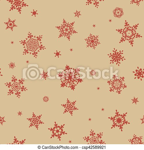 Seamless pattern of snowflakes. EPS 10 - csp42589921