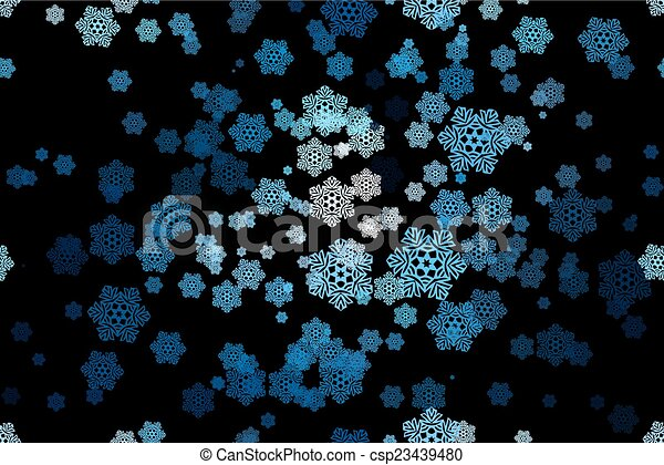 Seamless pattern of snowflakes on a - csp23439480