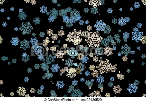 Seamless pattern of snowflakes on a - csp23439529