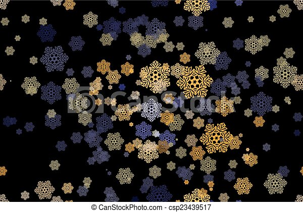 Seamless pattern of snowflakes on a - csp23439517