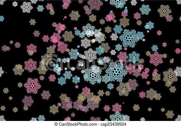 Seamless pattern of snowflakes on a - csp23439504