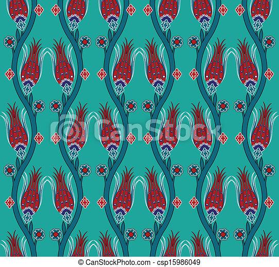 seamless pattern turkish tile - csp15986049
