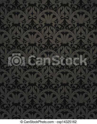 Seamless pattern vector, black - csp14325162