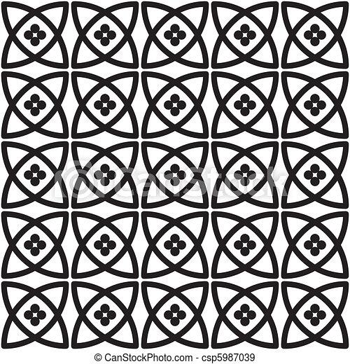 seamless pattern (vector) - csp5987039