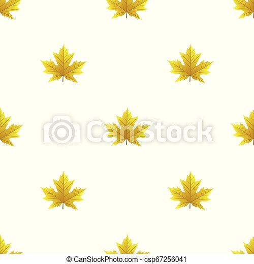 Seamless pattern with autumn leaves - csp67256041