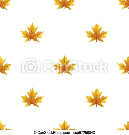 Seamless pattern with autumn leaves - csp67256043