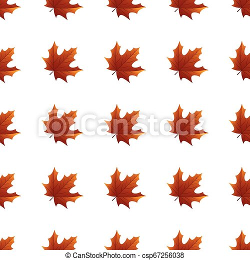 Seamless pattern with autumn leaves - csp67256038