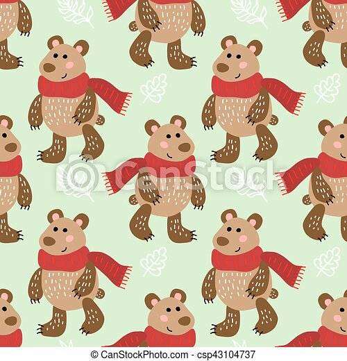 Seamless pattern with bears - csp43104737
