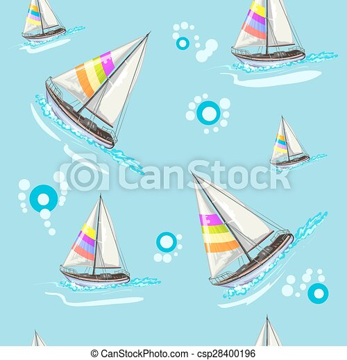 Seamless pattern with boat - csp28400196