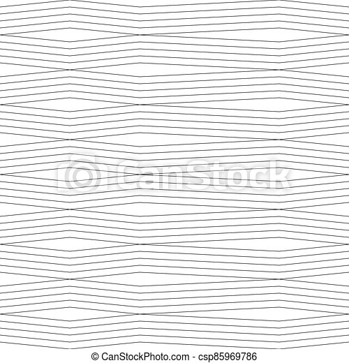 seamless pattern with broken lines on a white background - csp85969786