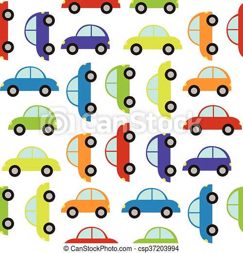 Seamless Pattern With Car
