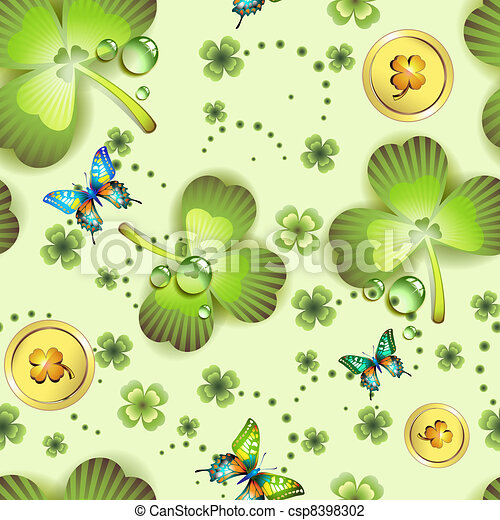 Seamless pattern with clover - csp8398302