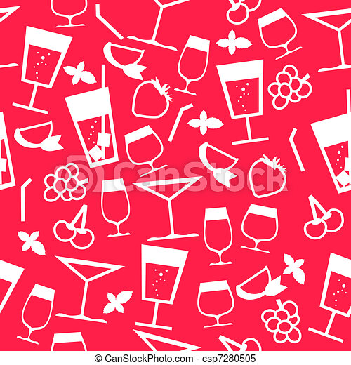 Seamless pattern with cocktails - csp7280505