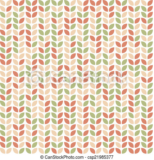 Seamless pattern with colorful leaves - csp21985377