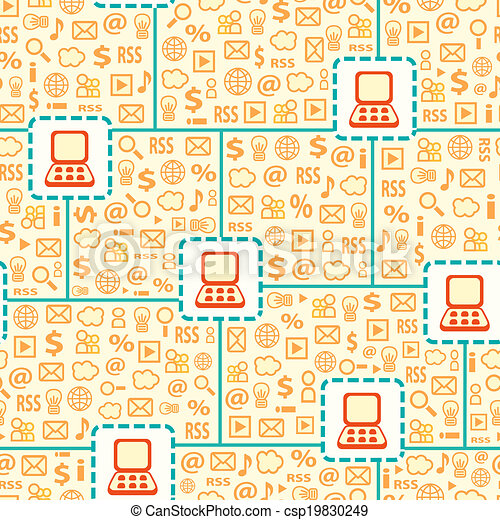 Seamless Pattern with Computer Gadget Network - csp19830249