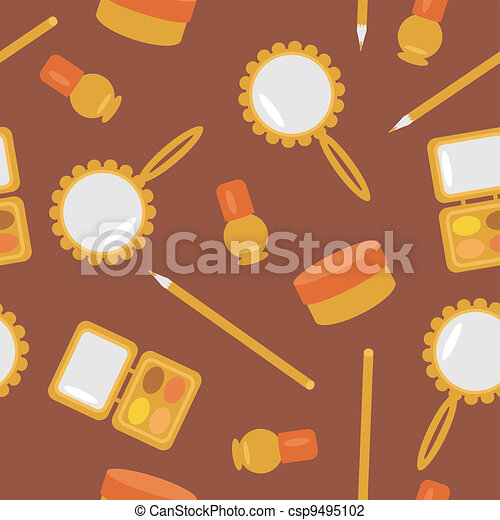 seamless pattern with cosmetics  - csp9495102
