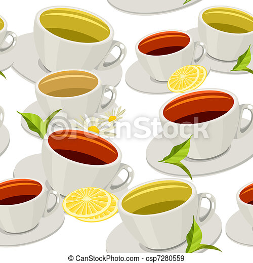 Seamless pattern with cups - csp7280559