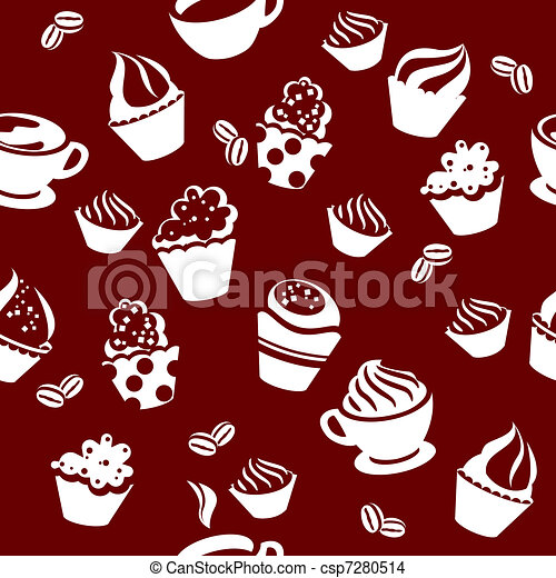 Seamless pattern with cups - csp7280514