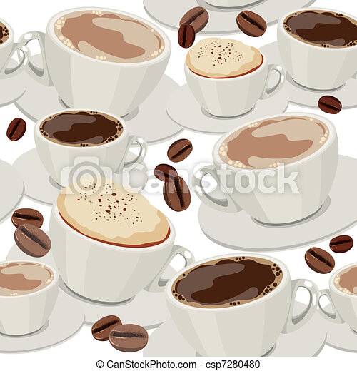 Seamless pattern with cups - csp7280480